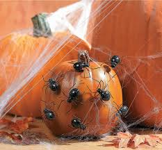 amazon com halloween spider pumpkin push ins pack of 12 home