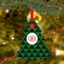 Custom Made Christmas Tree Decorations by Personalized Christmas Tree Ornaments Monogram Online