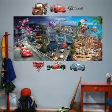 cars wall decals roselawnlutheran fathead disney cars 2 wall decal