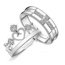 buy metal rings images Yellow chimes darling heart crown 925 sterling silver plated jpg