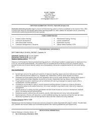 Student Teaching Resume Template Cover Letter Elementary Teacher Resume Samples Elementary