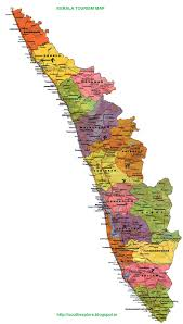 South India Map by Kerala Tourism Map Tourist Places In Kerala South India Tourism