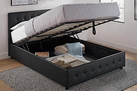 Platform Beds With Storage Underneath - dhp furniture cambridge upholstered bed with storage