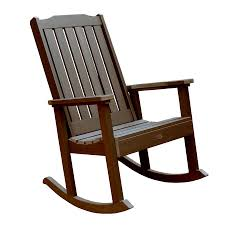 Patio Furniture At Lowes - shop highwood usa lehigh weathered acorn plastic patio rocking