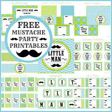 Mustache Home Decor by Free Little Man Mustache Bash Party Printables From Printabelle
