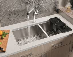 Gourmet Quatrus R Stainless Steel Double Kitchen Sink Sinks - Gourmet kitchen sinks