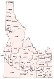 map of idaho map of idaho counties