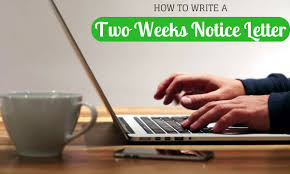 how to write a two weeks notice letter samples u0026 example wisestep