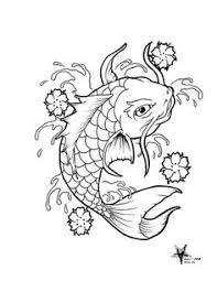 koi fish outline outline of koi fish by xshaixhuludx koi and