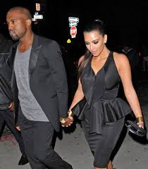 kanye west earrings kanye and k step out in all black everything