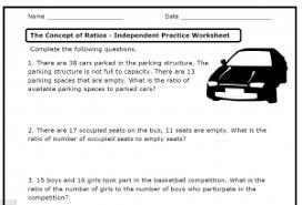 ratios 6 rp a 1 2 3 a b c d u2013 printable worksheets u2013 the