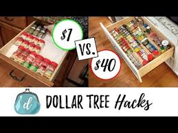 Best Spice Rack With Spices Dollar Tree Hacks To Organize Spice Drawers Cabinets Youtube