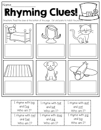 rhyming clues read the clues cut and paste to match the pictures