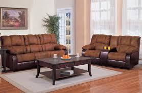 ronan 2 piece reclining sofa loveseat set in two tone cover
