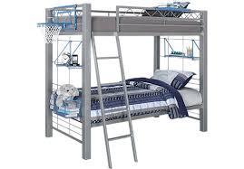 Build A Bunk Bed Build A Bunk Gray 3 Pc Full Full Bunk Bed Bunk Beds Metal