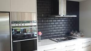 Tiled Kitchen Backsplash Interior Subway Tile Kitchen Backsplash Pictures Of Image Black