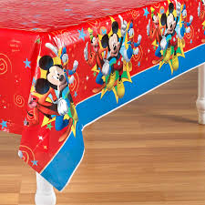 Mickey Mouse Table by Mickey Mouse Plastic Tablecover Table Cover Tablecloth Red