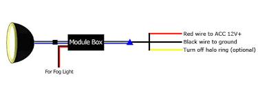 subaru wrx sti dual function halo ring daytime running lights fog lamp