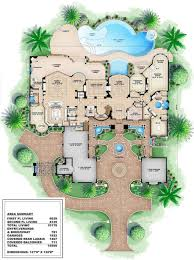 mediterranean style house plan 6 beds 8 5 baths 10178 sq ft plan