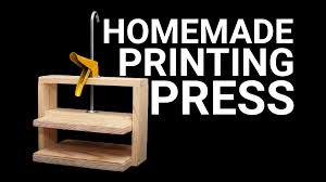 Making A Basic End Table by How To Make A Simple Printing Press Youtube