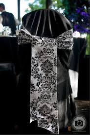 Damask Chair F S Vases Black Chair Covers Damask Chair Sashes And Table