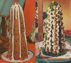 christmas recipes from 1970s with parsley pâté trees and a prawn