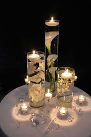 Vases With Flowers And Floating Candles Submerged Baby U0027s Breath For A Winter Wedding Simple Diy