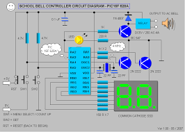 class bell rings images School bell controller final project pic16f628a electronics png