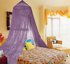 Amazon Bedroom Curtains Amazon Com Kathy Ireland Lavender Twin Full Canopy Bed Netting
