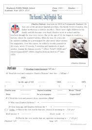 very short biography charles dickens 9 free esl charles dickens worksheets