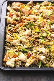 recette de cuisine minceur cuisine minceur luxe e sheet pan chicken fried rice recette style