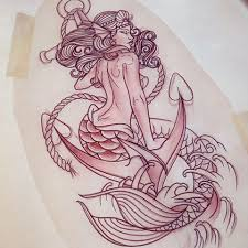 traditional mermaid tattoo designs pictures to pin on pinterest