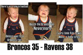 Broncos Losing Meme - baby memes for broncos season ending loss to the ravens