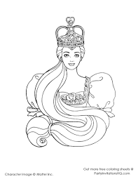 as the island princess colouring pages