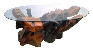 Redwood Coffee Table Sculptured Redwood Accessory Tables Stohans Showcase Modern