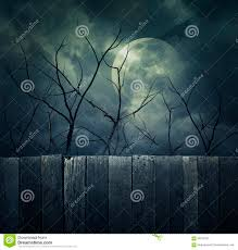 halloween moon background spooky forest with full moon dead trees halloween background