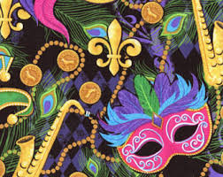 mardi gras items mardi gras fabric etsy