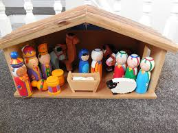 wooden nativity set workshop child s wooden nativity with box in