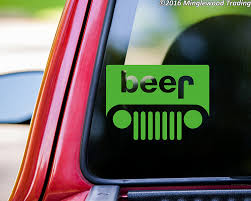 jeep beer tire cover amazon com jeep beer vinyl decal sticker 5