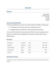 summaries for resumes 13 student resume examples high and college