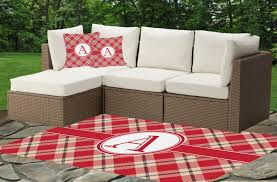 Red Outdoor Rug by Red U0026 Tan Plaid Indoor Outdoor Rug Personalized Youcustomizeit
