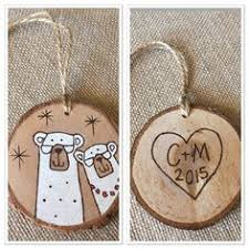 personalized wood christmas ornament polar bear от malamistudio