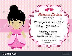 art birthday invitations little princess birthday invitation vector stock vector 287517731