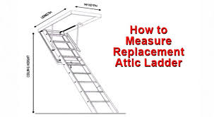 how to measure replacement attic ladder sunset ladder u0026 scaffold