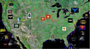 Map Of Gotham City Is Gotham City Really In New Jersey And Dc Comics World Map For