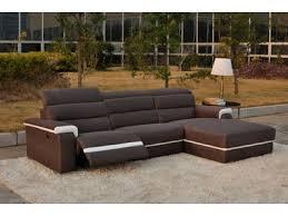 canapé d angle relax canape d angle droit relax electrique californie luba 340 15 marron