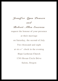 Simple Wedding Invitations Printable Classic Black And White Wedding Cards Ewi104 As Low As
