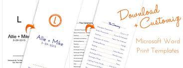 tea length wedding programs templates free designs stylish free wedding program templates tea length with