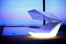 contemporary daybed faz with sunshade led lights and speakers