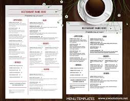 free word menu templates menu templates free pdf word documents creative template
